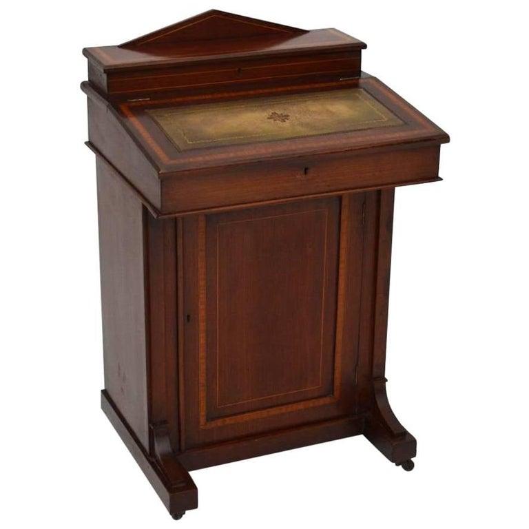 Antique Edwardian Inlaid Mahogany Davenport Desk For Sale - Antique Edwardian Inlaid Mahogany Davenport Desk For Sale At 1stdibs