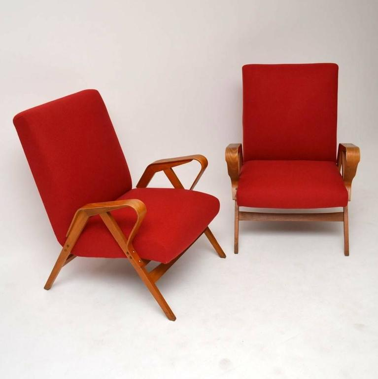 c4ad512f1f6ab Czech Pair of Retro Armchairs by Tatra Nabytok Vintage, 1950s For Sale