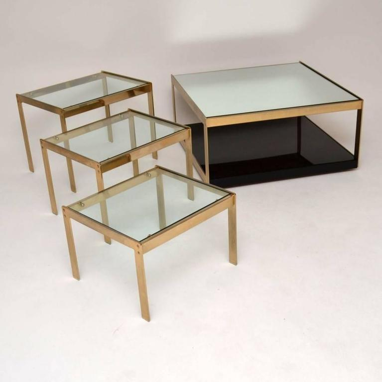 Rare merrow associates retro coffee table brass and formica vintage 1970s for sale at 1stdibs Formica coffee table