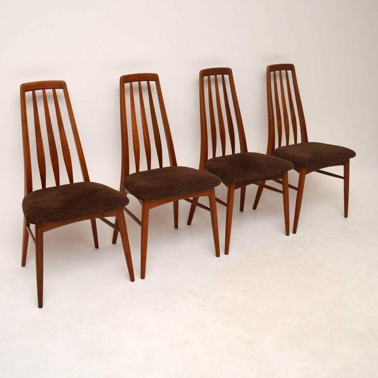 Four Danish Teak Retro Dining Chairs By Niels Koefoed 3