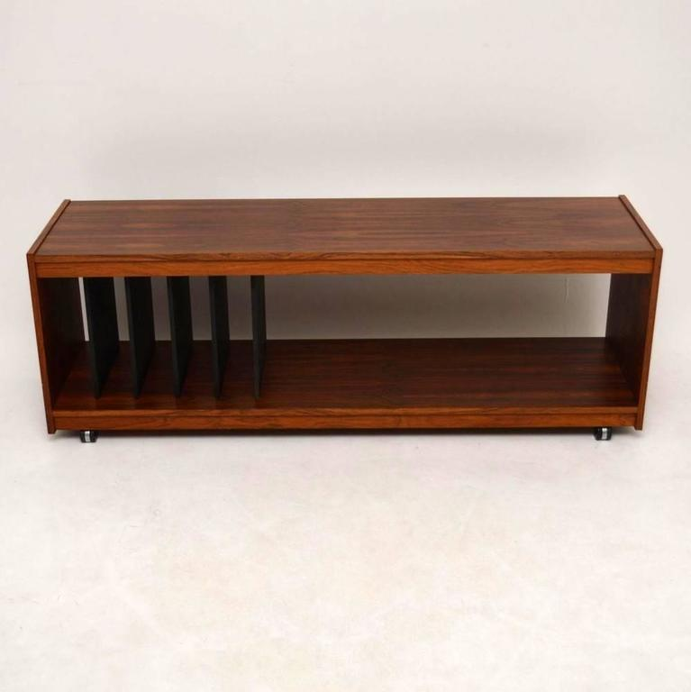 Danish Rosewood Retro Sideboard Or Record Cabinet, T.V Stand In Excellent  Condition For Sale In
