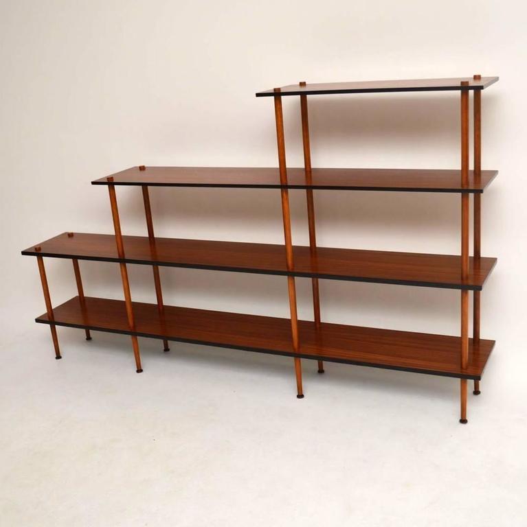 Retro Mahogany Open Bookcase Or Room Divider At 1stdibs