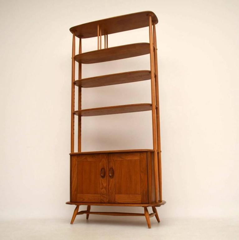 Retro Elm Bookcase Or Room Divider By Ercol Vintage At 1stdibs