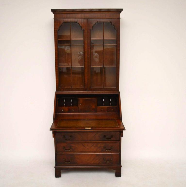 Antique georgian style mahogany bureau bookcase for sale at 1stdibs - Bureau style vintage ...
