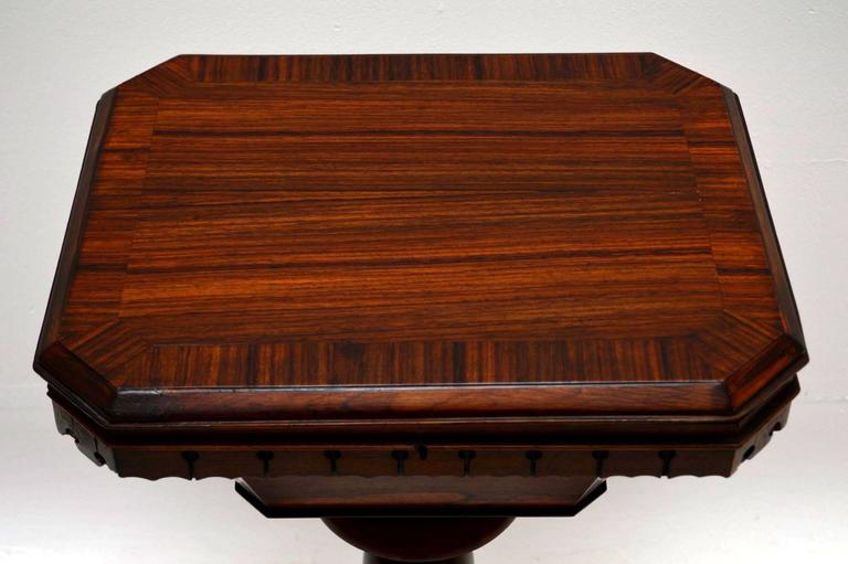 English Antique William IV Rosewood Sewing Box Table For Sale