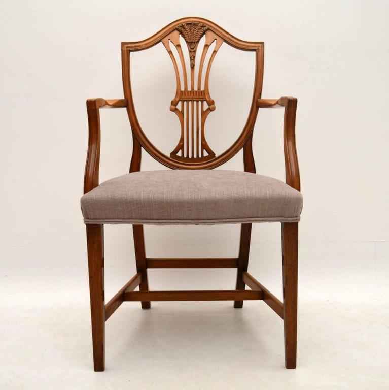 Antique Mahogany Dining Room Furniture: Set Of Ten Antique Mahogany Shield Back Dining Chairs At