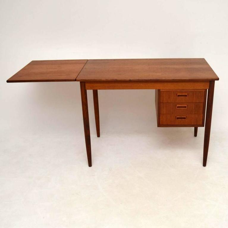 danish teak retro desk by arne vodder vintage  1960s at