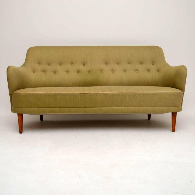 Retro swedish samsas sofa by carl malmsten for sale at 1stdibs Carl malmsten sofa