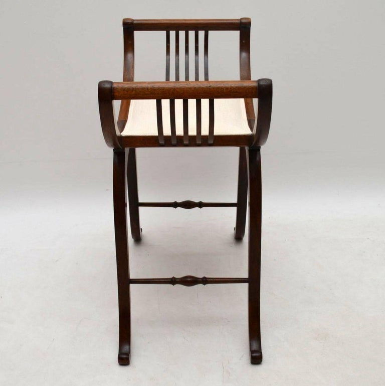 Antique Edwardian Mahogany Gondola Stool At 1stdibs