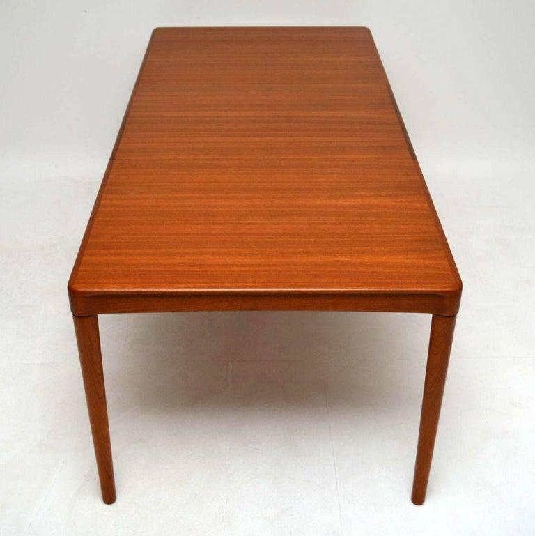 Danish Teak Retro Dining Table By HW Klein For Bramin