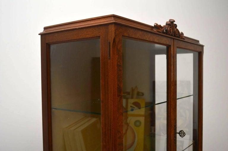 Antique Burr Walnut Display Cabinet For Sale 2
