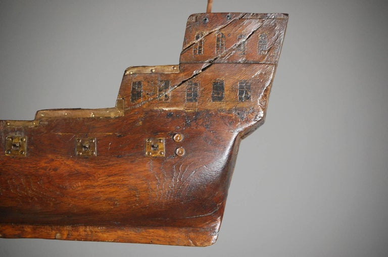 Early 19th Century Naive French Votive Ship For Sale 5