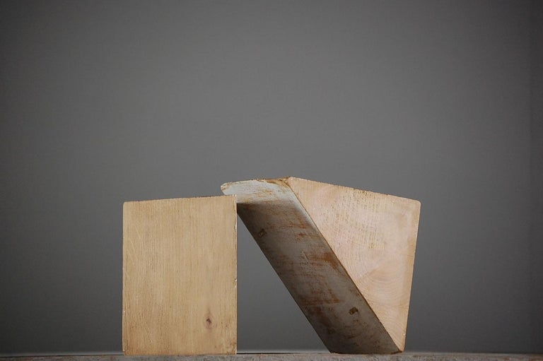 Collection of 5 artist geometric forms, 4 of which are sectional. Measurement for largest pyramid form, France, circa 1950.