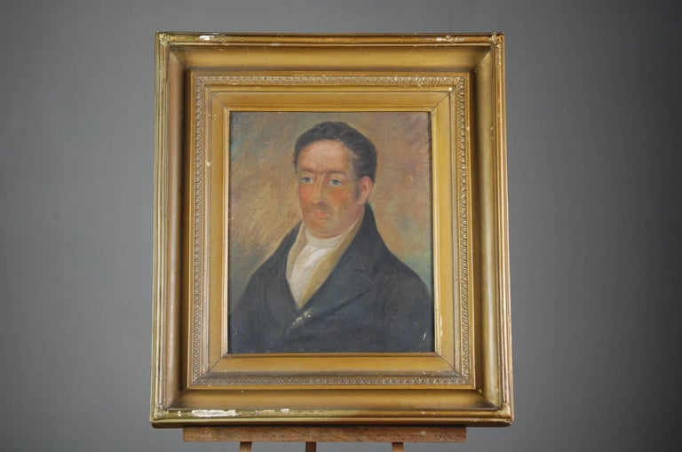 English Collection of Three Early 19th Century Naive Family Pastel Portraits For Sale