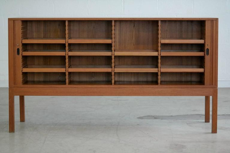 Danish Office Credenza : Jacob kjaer attributed danish large teak office credenza for sale at