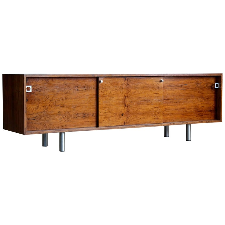 Danish 1960s Low Credenza in Rosewood by Bodil Kjaer for E. Pedersen and Son For Sale