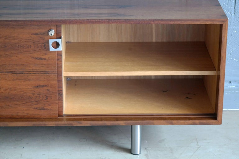 Danish 1960s Low Credenza in Rosewood by Bodil Kjaer for E. Pedersen and Son For Sale 1