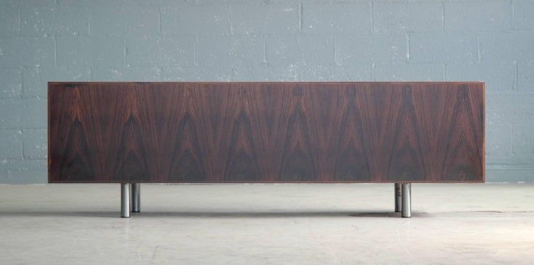 Danish 1960s Low Credenza in Rosewood by Bodil Kjaer for E. Pedersen and Son For Sale 2