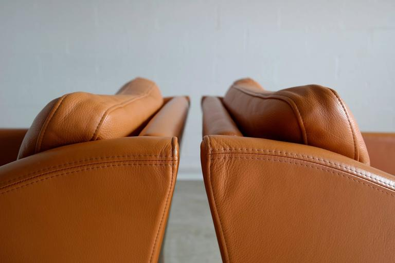 Mid-Century Modern Pair of Børge Mogensen Style Lounge Chairs by Takashi Okamura for Svend Skipper