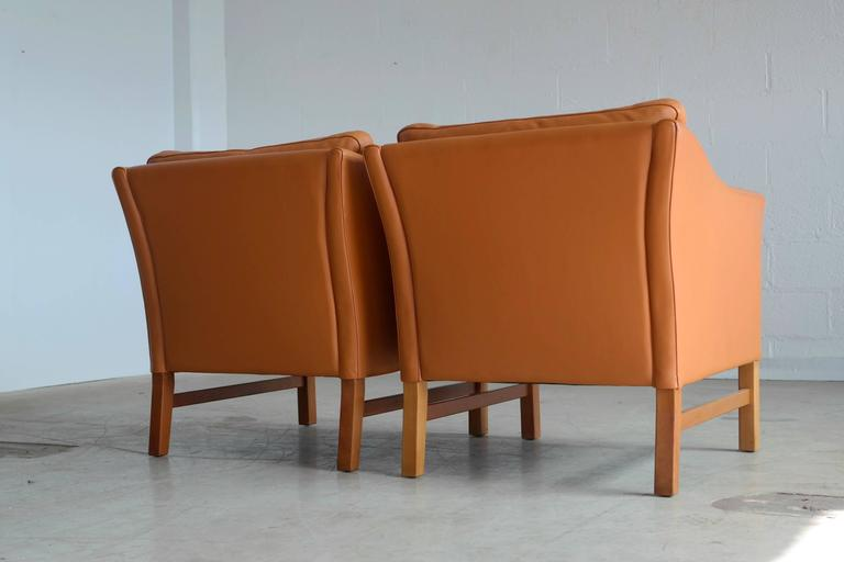 Danish Pair of Børge Mogensen Style Lounge Chairs by Takashi Okamura for Svend Skipper
