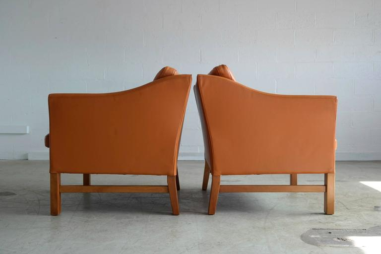20th Century Pair of Børge Mogensen Style Lounge Chairs by Takashi Okamura for Svend Skipper