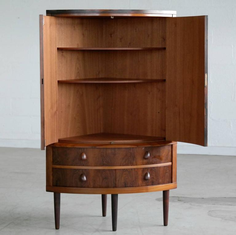 Attractive Mid Century Modern Mid Century Corner Cabinet Attributed To Frode Holm In  Rosewood For