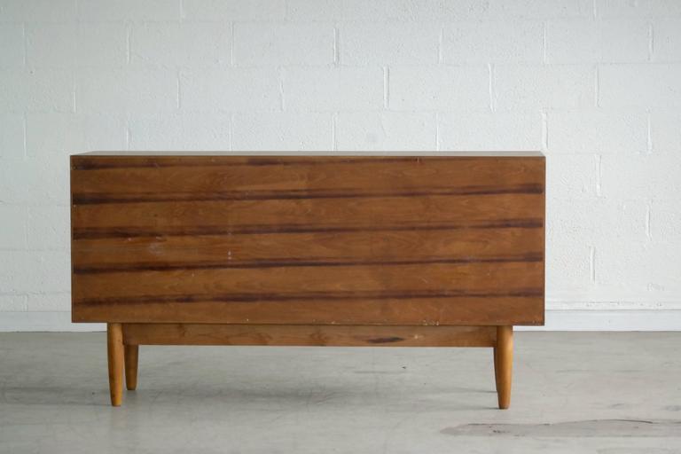 Omann Jun Mid Century Low Sideboard or Credenza in Teak  For Sale 2
