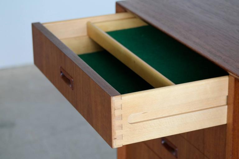 Danish Omann Jun Mid Century Low Sideboard or Credenza in Teak  For Sale