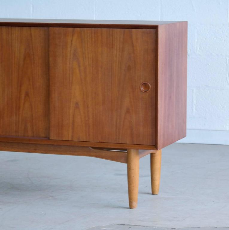 Mid-20th Century Omann Jun Mid Century Low Sideboard or Credenza in Teak  For Sale