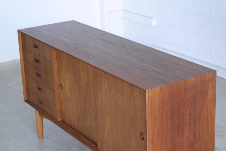 Omann Jun Mid Century Low Sideboard or Credenza in Teak  For Sale 1