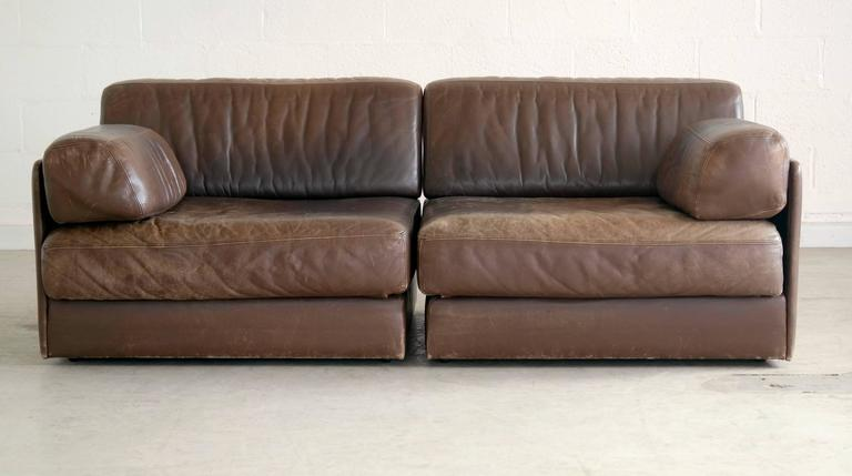 de sede ds 76 convertible leather sofa or chairs in. Black Bedroom Furniture Sets. Home Design Ideas