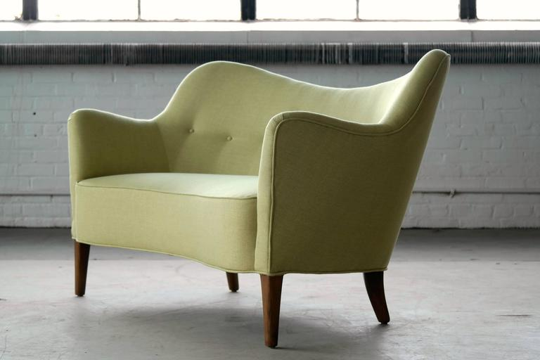 Mid-Century Modern Finn Juhl Attributed Loveseat Model 185 by Slagelse Mobelvaerk For Sale