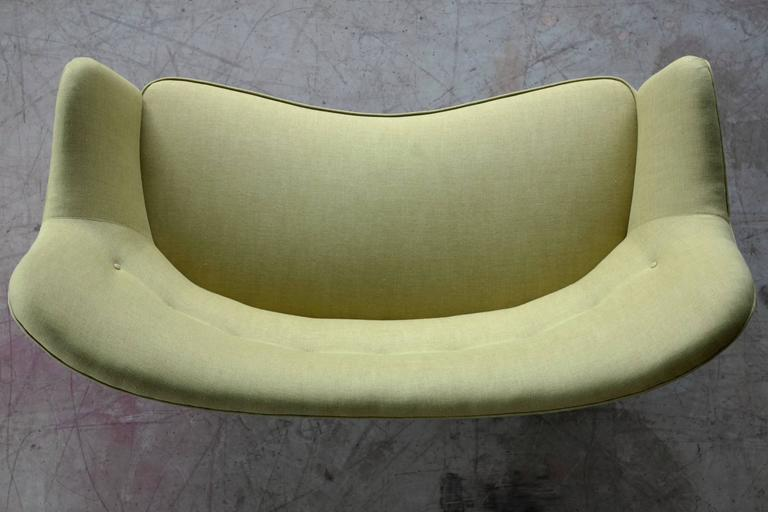 Finn Juhl Attributed Loveseat Model 185 by Slagelse Mobelvaerk For Sale 2