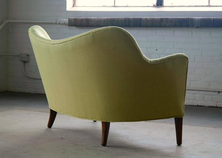 Danish Finn Juhl Attributed Loveseat Model 185 by Slagelse Mobelvaerk For Sale