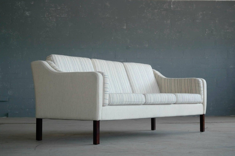 Børge Mogensen Style Three-Seat Sofa Model 2423 by Mogens Hansen at ...