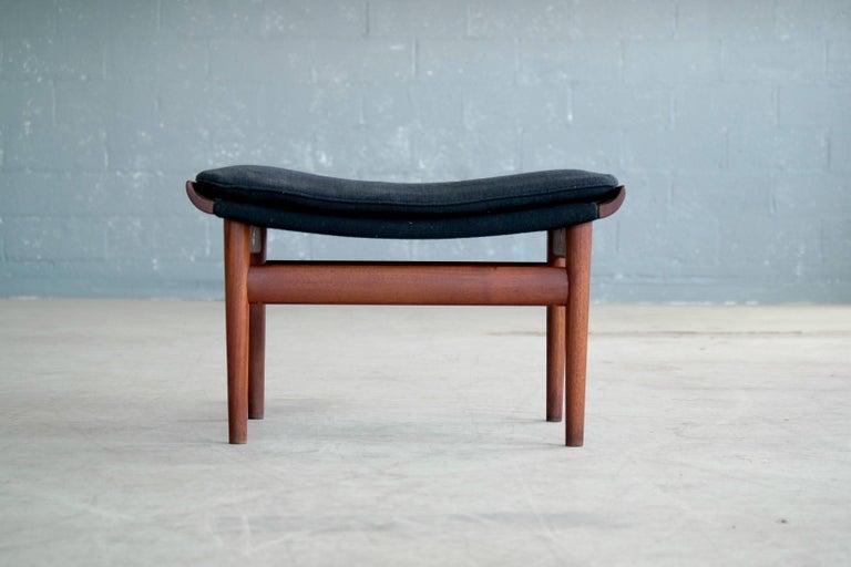 Mid-Century Modern Finn Juhl Bwana Footstool or Ottoman in Teak for France & Son For Sale