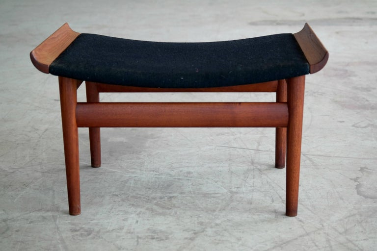 Mid-20th Century Finn Juhl Bwana Footstool or Ottoman in Teak for France & Son For Sale