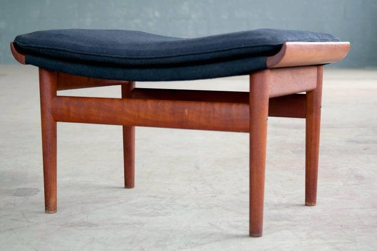 Danish Finn Juhl Bwana Footstool or Ottoman in Teak for France & Son For Sale