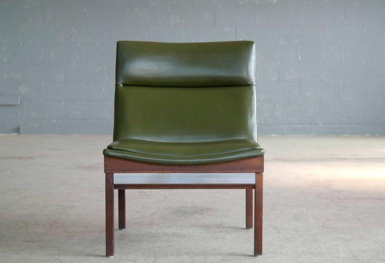 Arthur Umanoff Walnut And Aluminum Lounge Chair For
