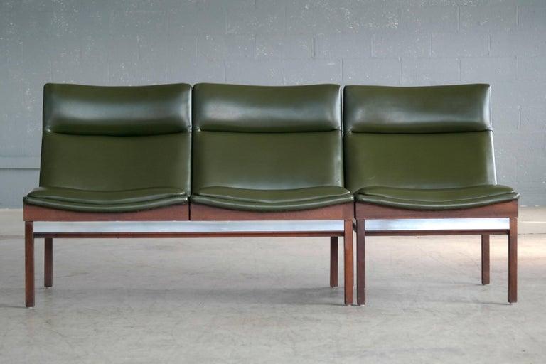 Arthur Umanoff Walnut Modular Sofa And Chair Set For