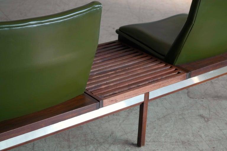 Arthur Umanoff Walnut Modular Sofa With Table For Madison