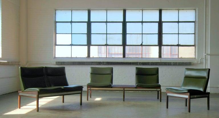 Arthur Umanoff Walnut Modular Sofa Set With Table For Madison Furniture 1950s For