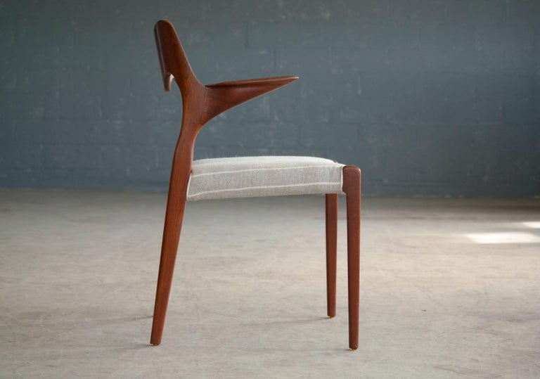 Mid-20th Century Niels Otto Møller Model 55 Armchair in Teak for J.L. Møllers Møbelfabrik For Sale