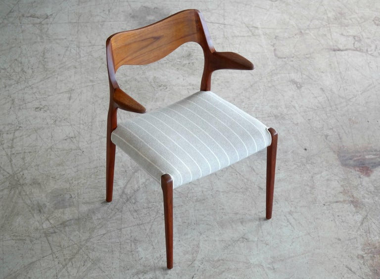 Mid-Century Modern Niels Otto Møller Model 55 Armchair in Teak for J.L. Møllers Møbelfabrik For Sale