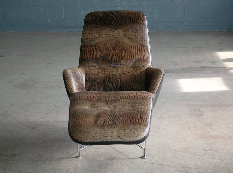 Kenneth Bergenblad Superspider Chaise Longue In Crocodile