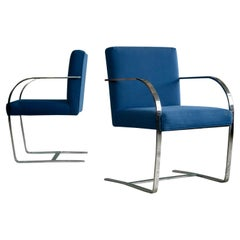 Pair of Brno Style Side Chairs in the Manner of Mies van der Rohe