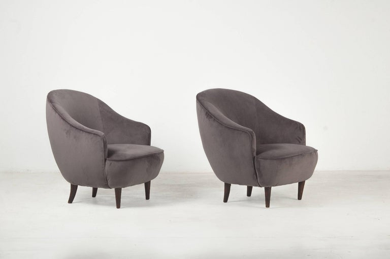Gio Ponti, Pair of Armchairs Manufactured by Casa e Giardino, Italy, 1939 In Good Condition For Sale In Barcelona, Spain