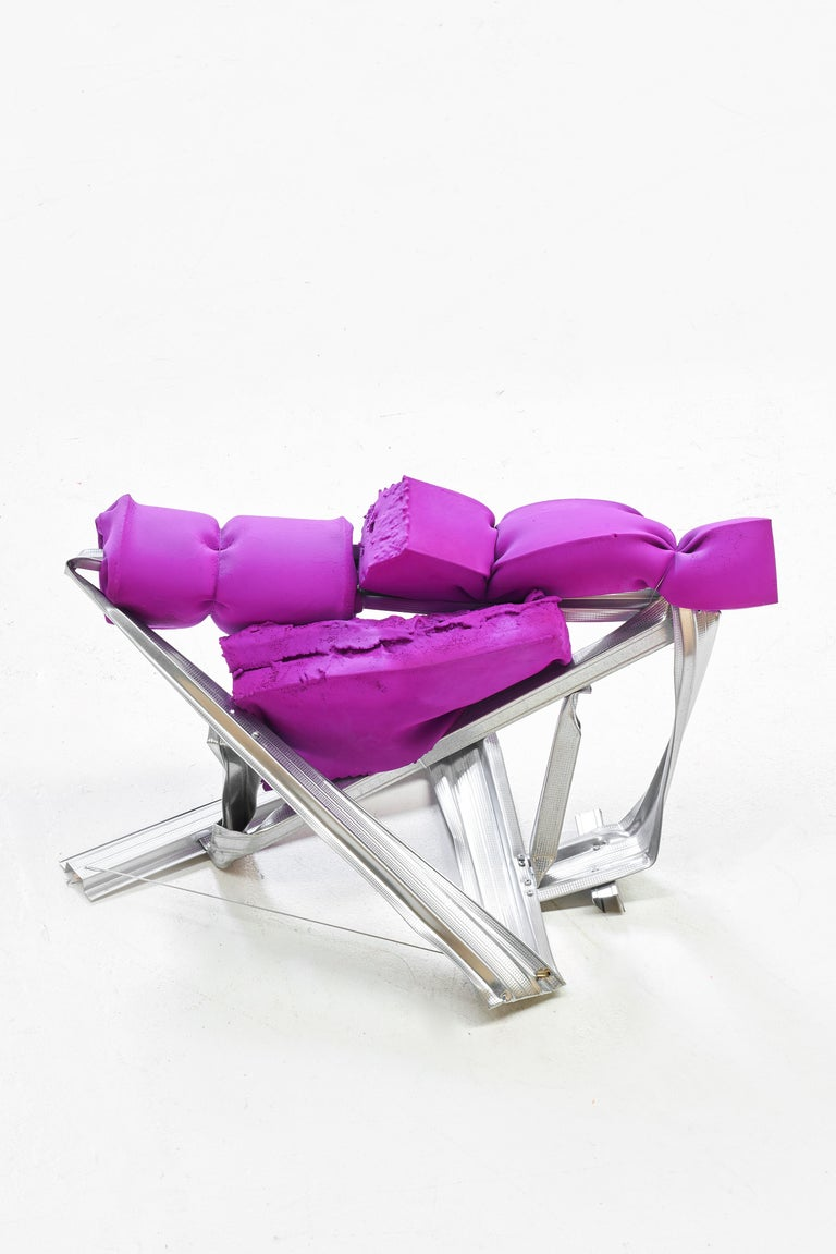 Guillermo Santomá, Armchair with Footrest, Barcelona, 2018 For Sale 1