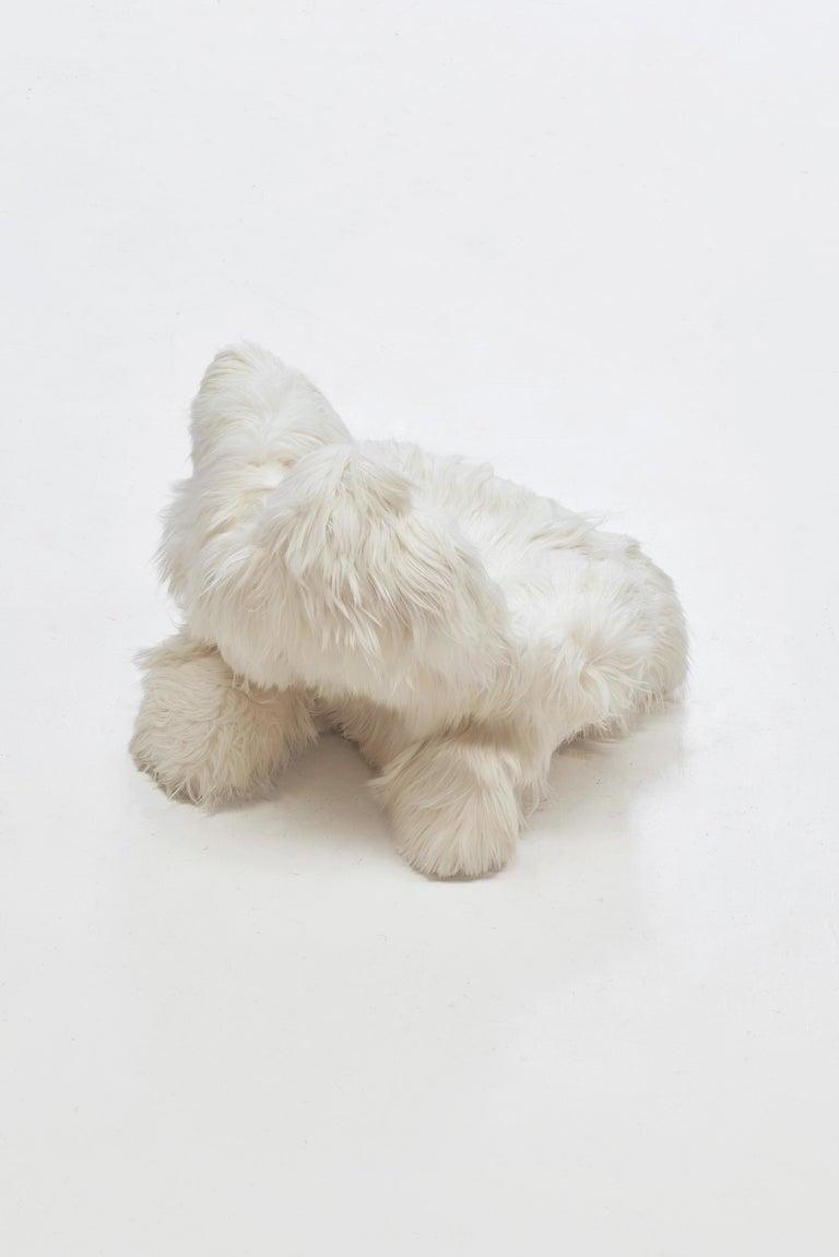 Armchair Manufactured by Guillermo Santomá Edition side galley Barcelona, 2018 Tibetan sheep fur, foam, porex.