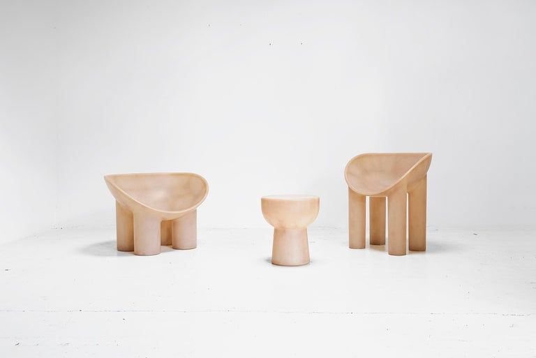 British Roly Poly Raw Stool by Faye Toogood, UK, 2018 For Sale